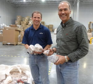 Darryl Bosshardt and Mike Mumford in Redmond's Heber City plant