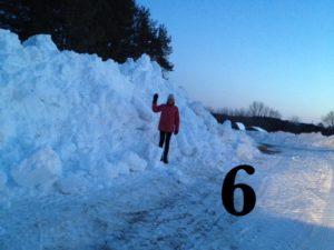 Debbie's snow bank