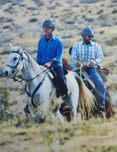 Matt Scribner and John Brain ride in Death Valley