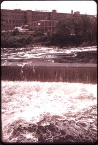 Androscoggin River in Brunswick, circa 1970, polluted and stinky.